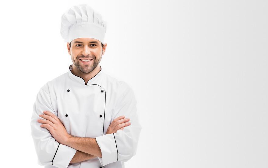 Zadowolony kucharz
